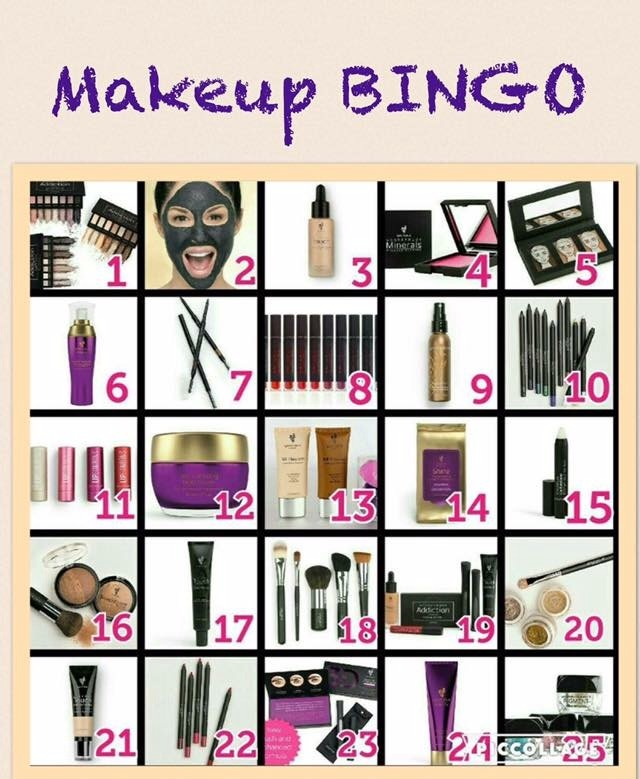 640x779 Makeup Bingo! Have Each Player Pick 5 Numbers. Then Randomly Draw