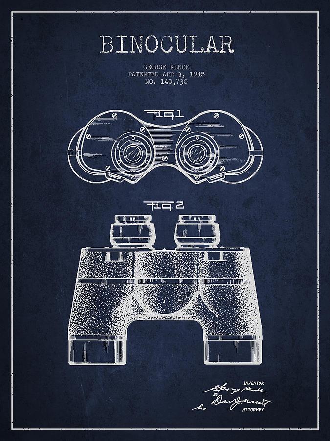 675x900 Binocular Patent Drawing From 1945 Digital Art By Aged Pixel