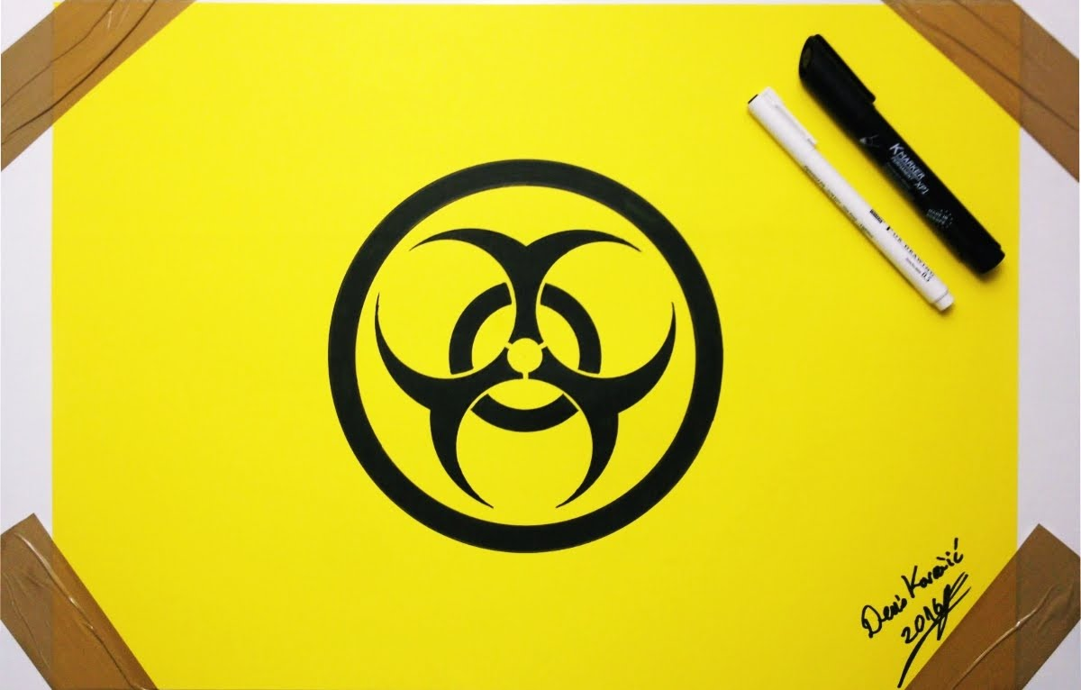 1200x766 Biohazard Symbol Drawing