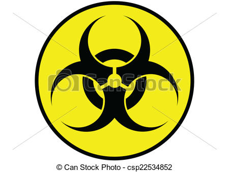 450x338 Biohazard Symbol Label Yellow Isolated Clipart Vector