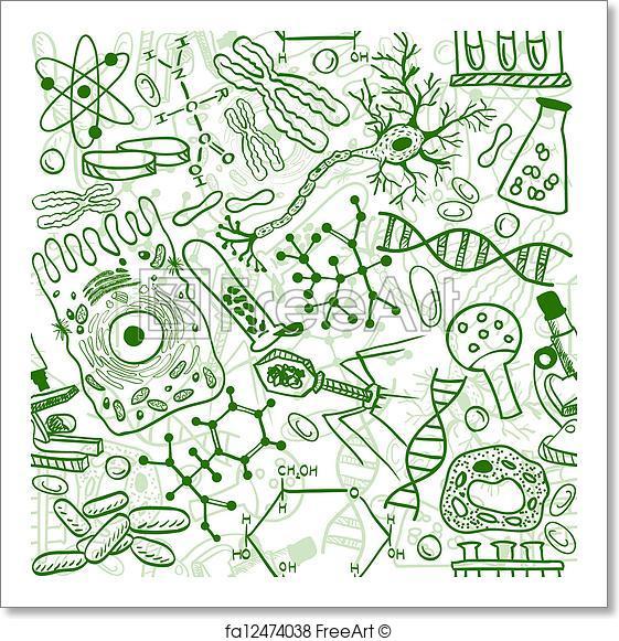 561x581 Free Art Print Of Biology Seamless Pattern. Seamless Pattern