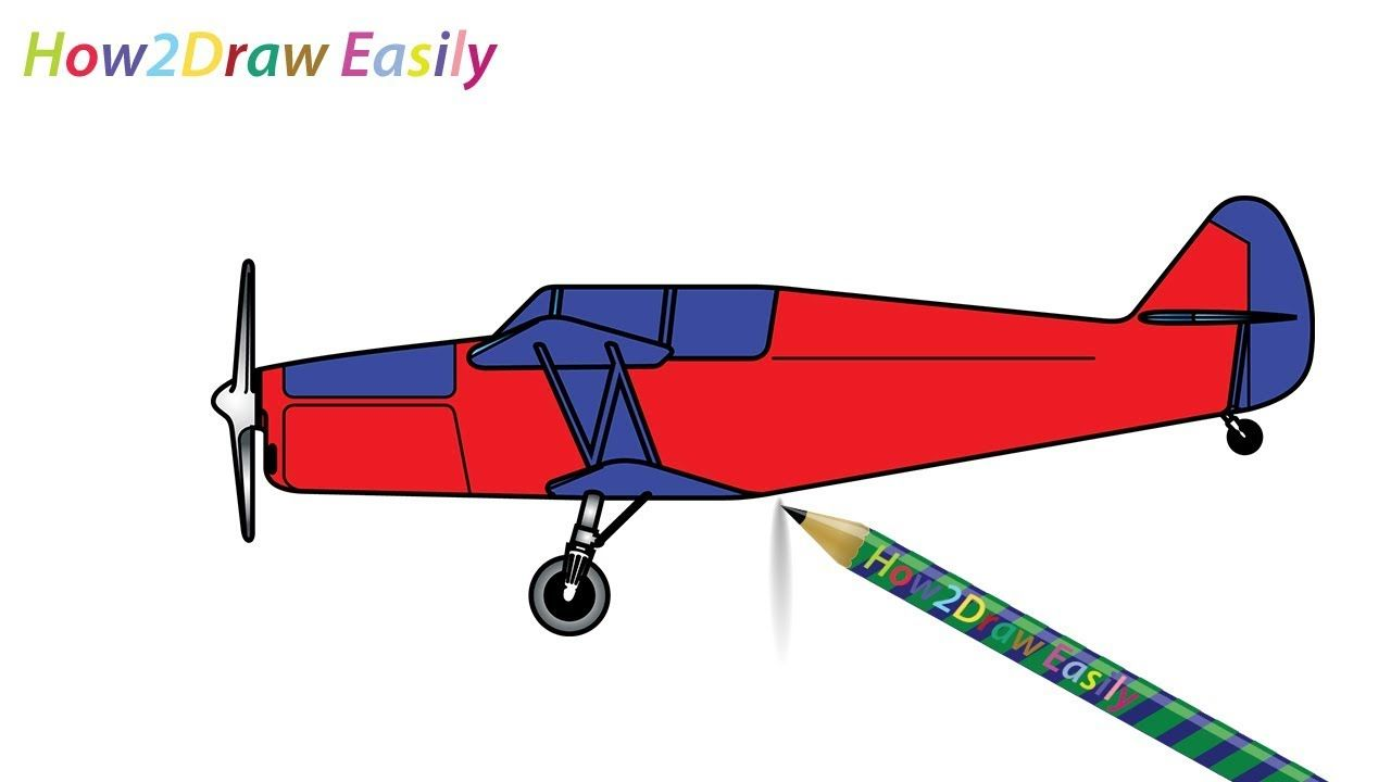 1280x720 Biplane Drawing Amp Coloring Watch Video Httpsyoutu.be