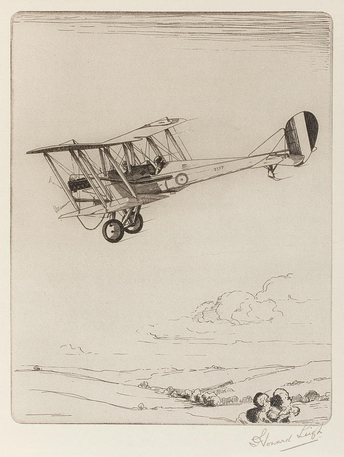 677x900 Two Seater Biplane Designed Drawing By Mary Evans Picture Library