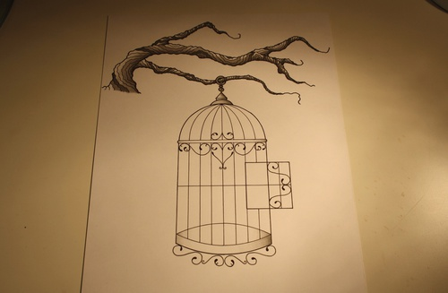 500x327 Birdcage Tattoo Design Shared By Mandy On We Heart It