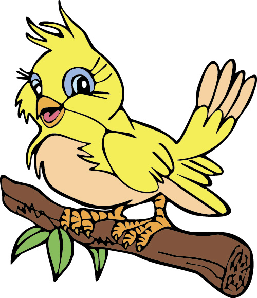 500x580 Hand Drawn Bird Cartoon Styles Vector Free Vector In Encapsulated