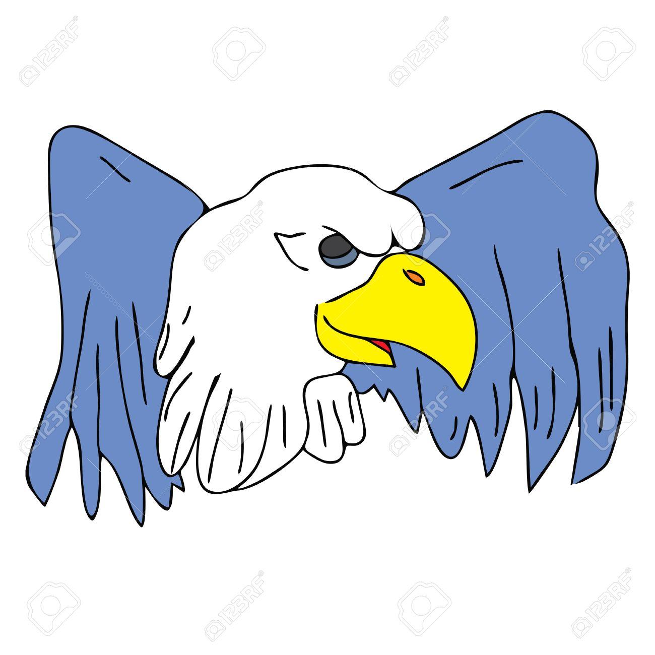 1300x1300 Bird Eagle Hawk Falcon With Wings For Tattoo Drawing Cartoon