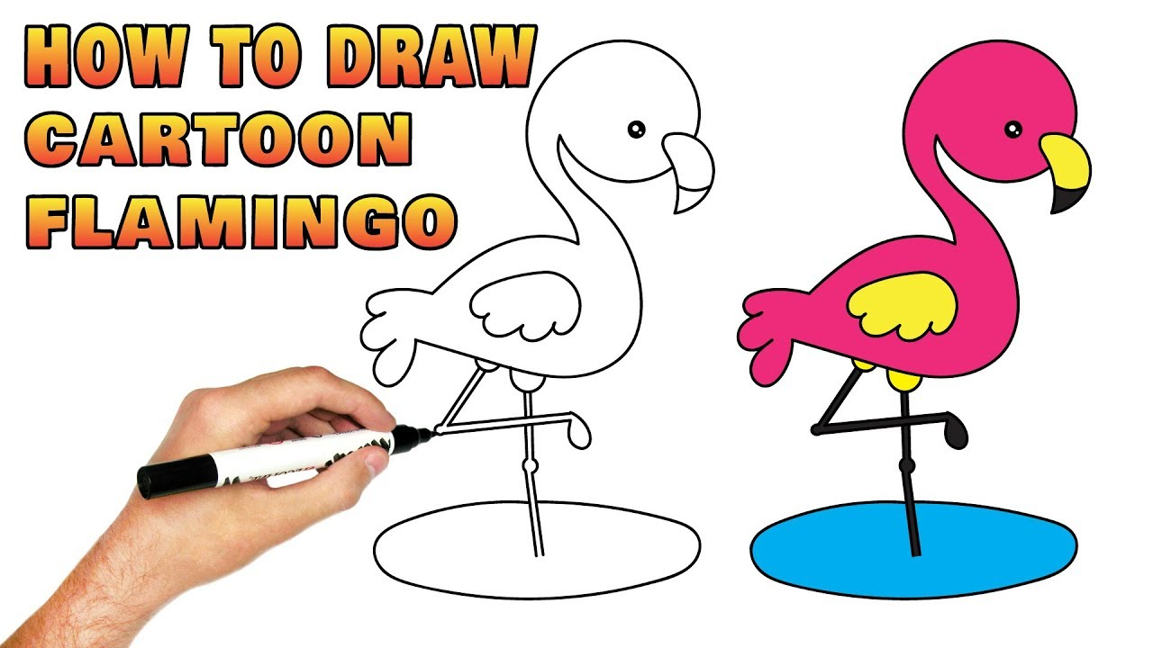 1280x720 Cartoon Flamingo How To Draw Cute Pink Bird Toys For Kids Children