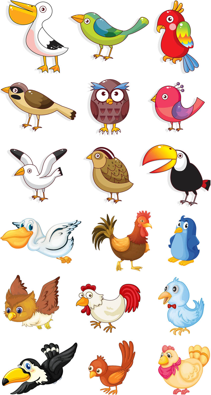 800x1500 Cartoon Birds Vector Vector Graphics Blog