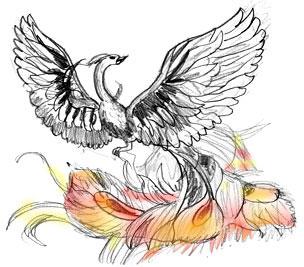 304x267 How To Draw A Fire Bird