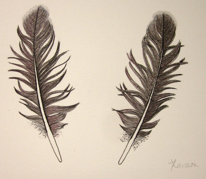 1500x1301 2 Black Feathers