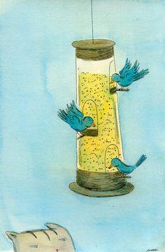 236x361 The Bird Feeder Nicole Wong Nicole Wong Illustrations