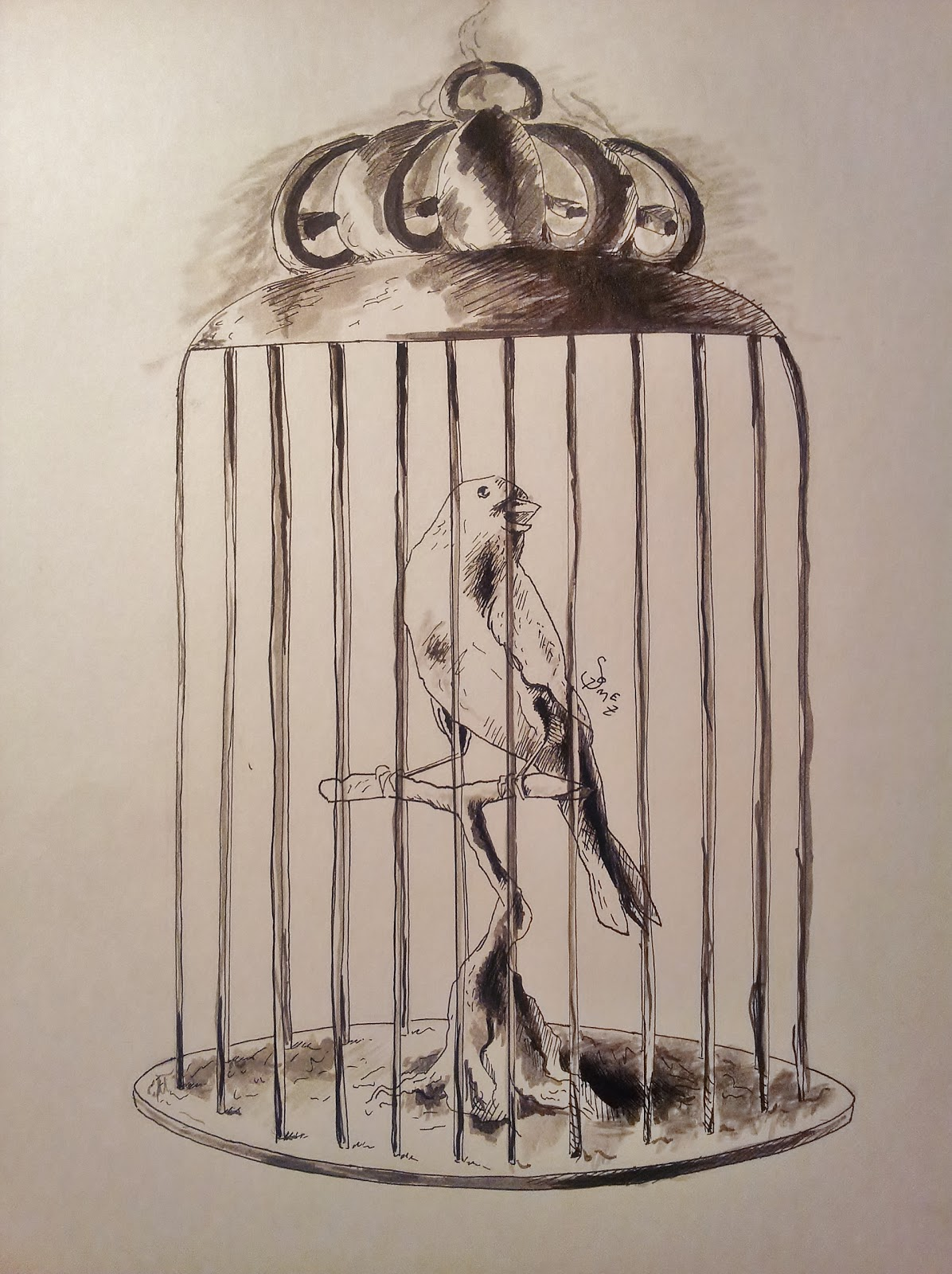 1196x1600 Angry Buddha Comics A Bird In A Cage