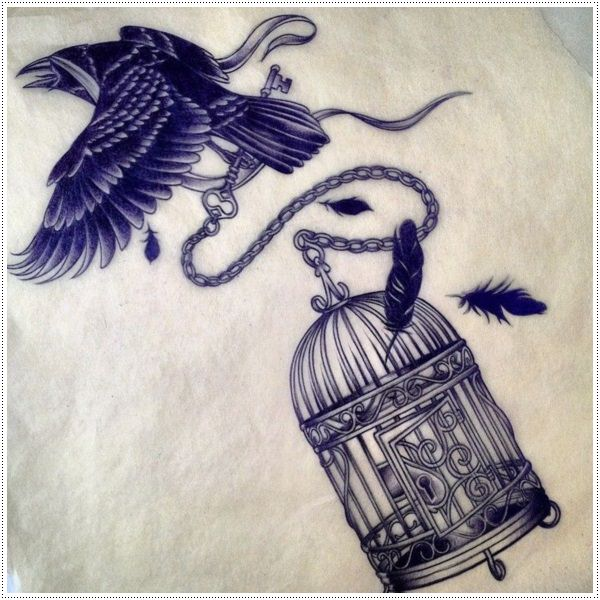 600x600 Striking Raven Tattoos With Deep Meanings