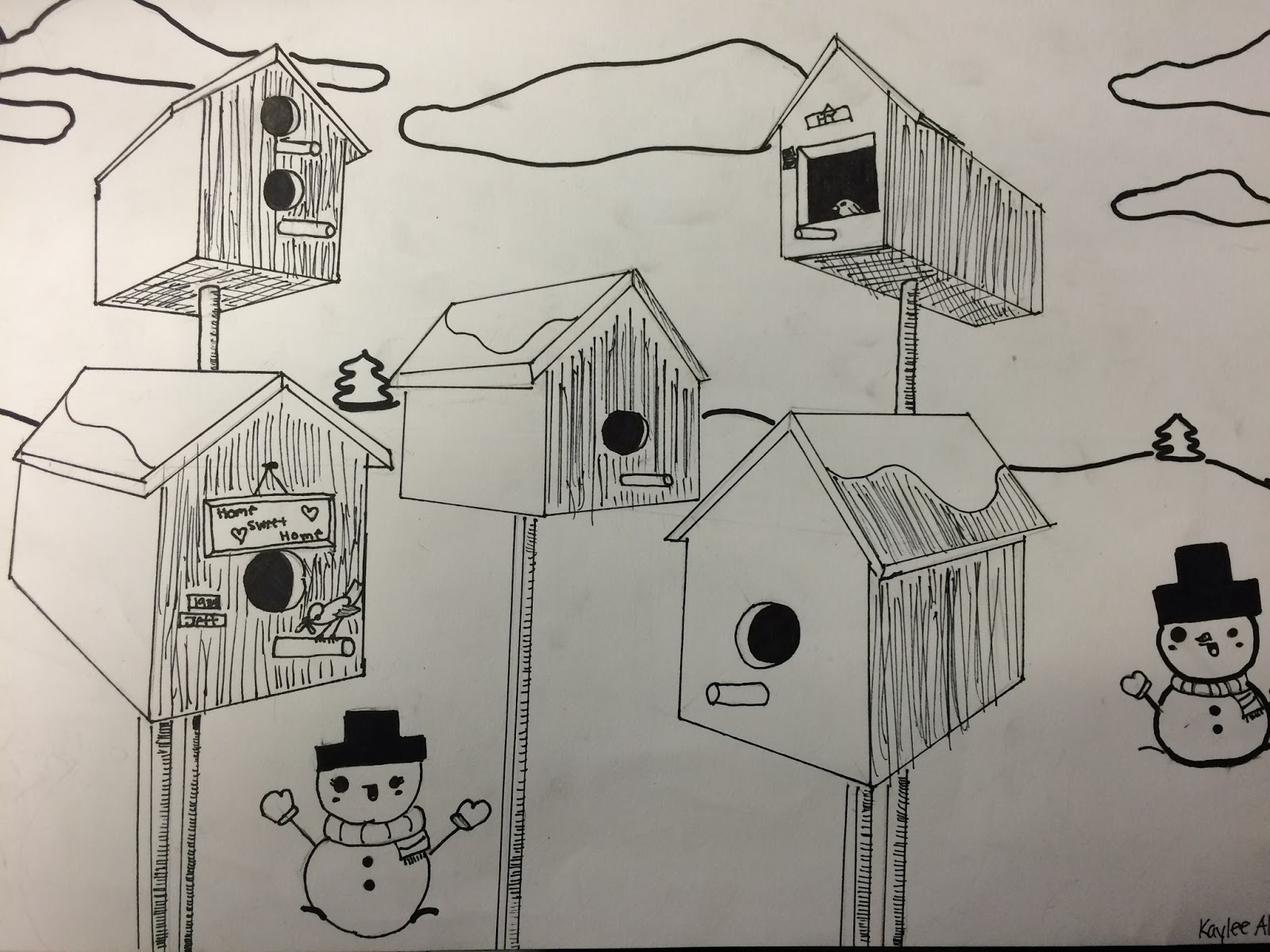 Bird House Drawing At Getdrawings Com Free For Personal