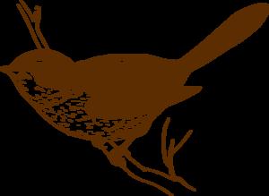 300x219 Brown Bird On Branch Clip Art