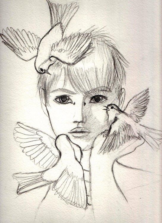 546x749 Boy With Birds