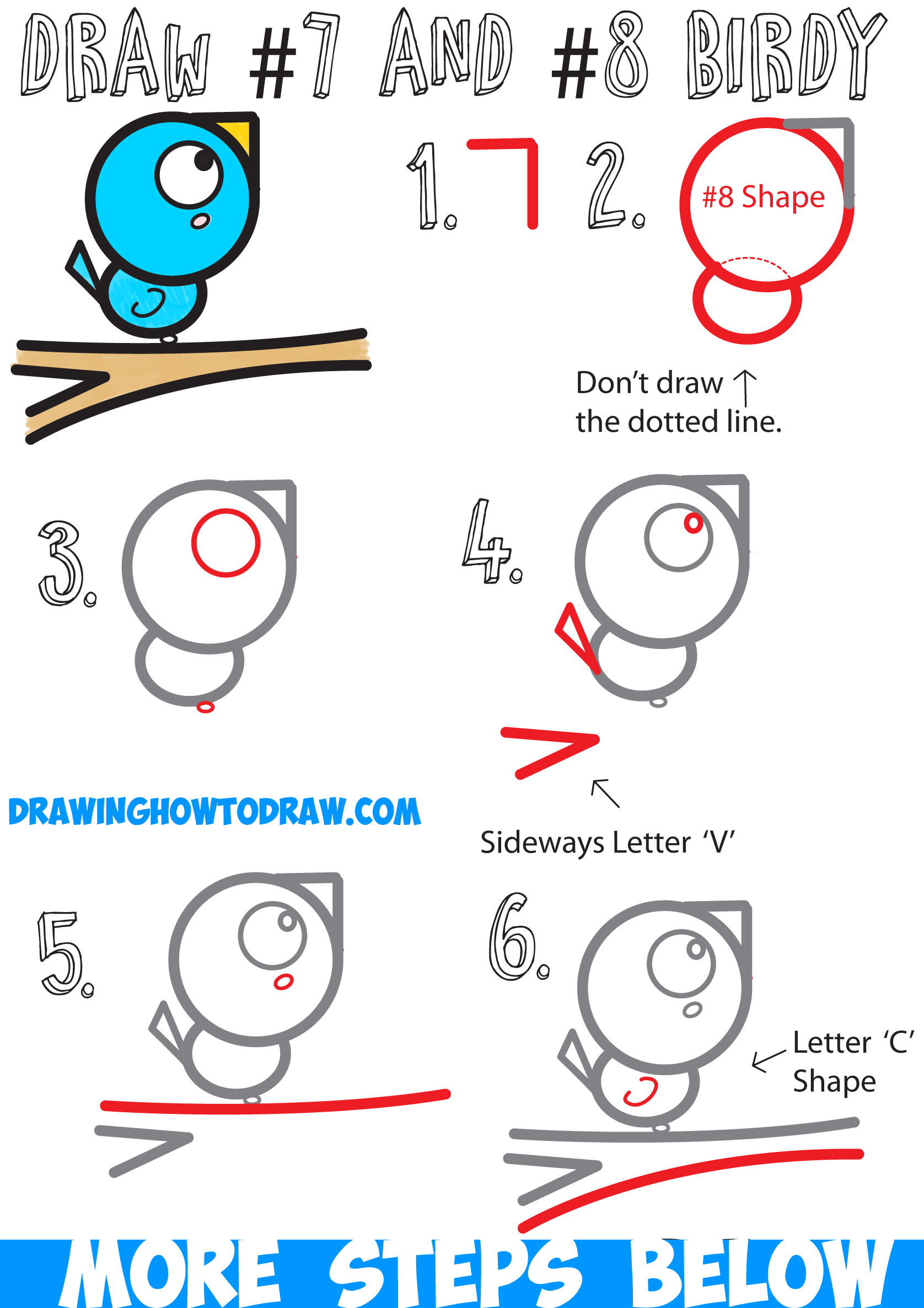 1676x2372 How To Draw A Bird On A Branch Easy For Kids Step By Step Drawing
