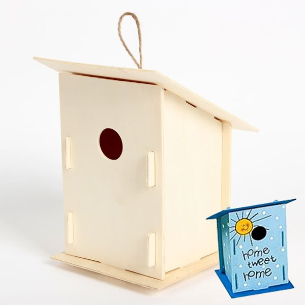 600x600 1pclot.diy Amp Handpainted Bird House,drawing Toys.craft Material