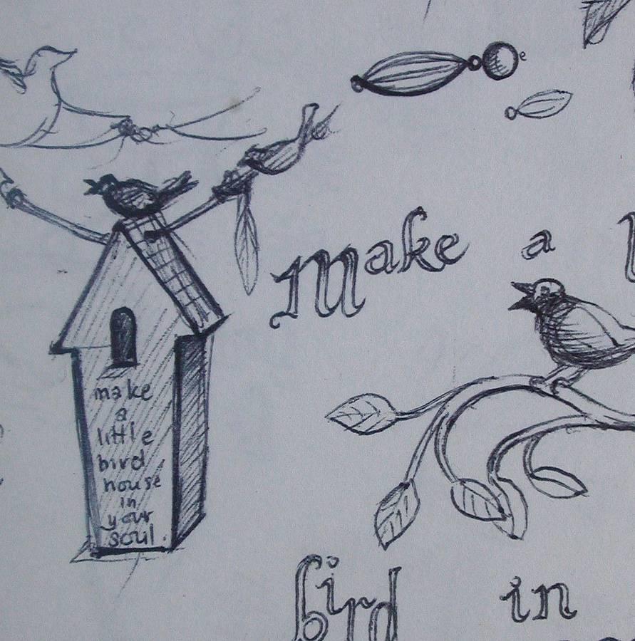 891x900 Bird Houses Tattoo Bird Houses, House And Birds