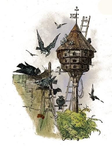 386x505 Birdhouse Drawing