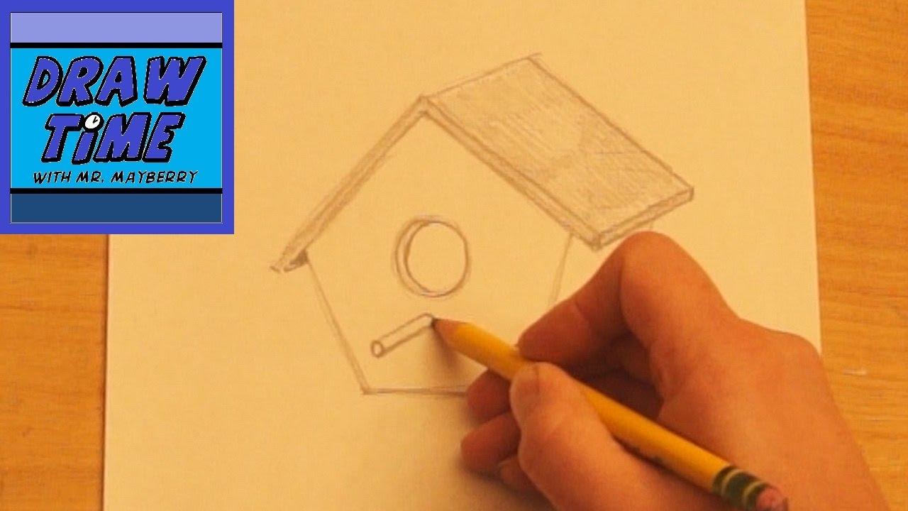 1280x720 How To Draw A Birdhouse