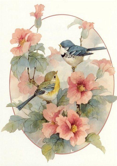 497x700 Drawing Art Birds Artwork Flowers Bird Floral Viviling