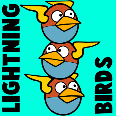 400x400 How To Draw Lightning Birds From Angry Birds Space With Easy Step