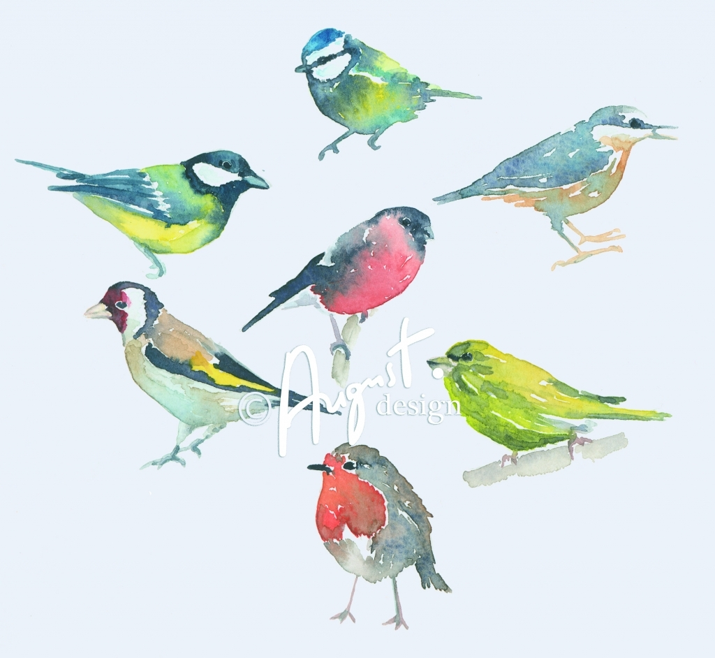 1024x942 Painting Birds In Watercolour Watercolor Birds Tutorials