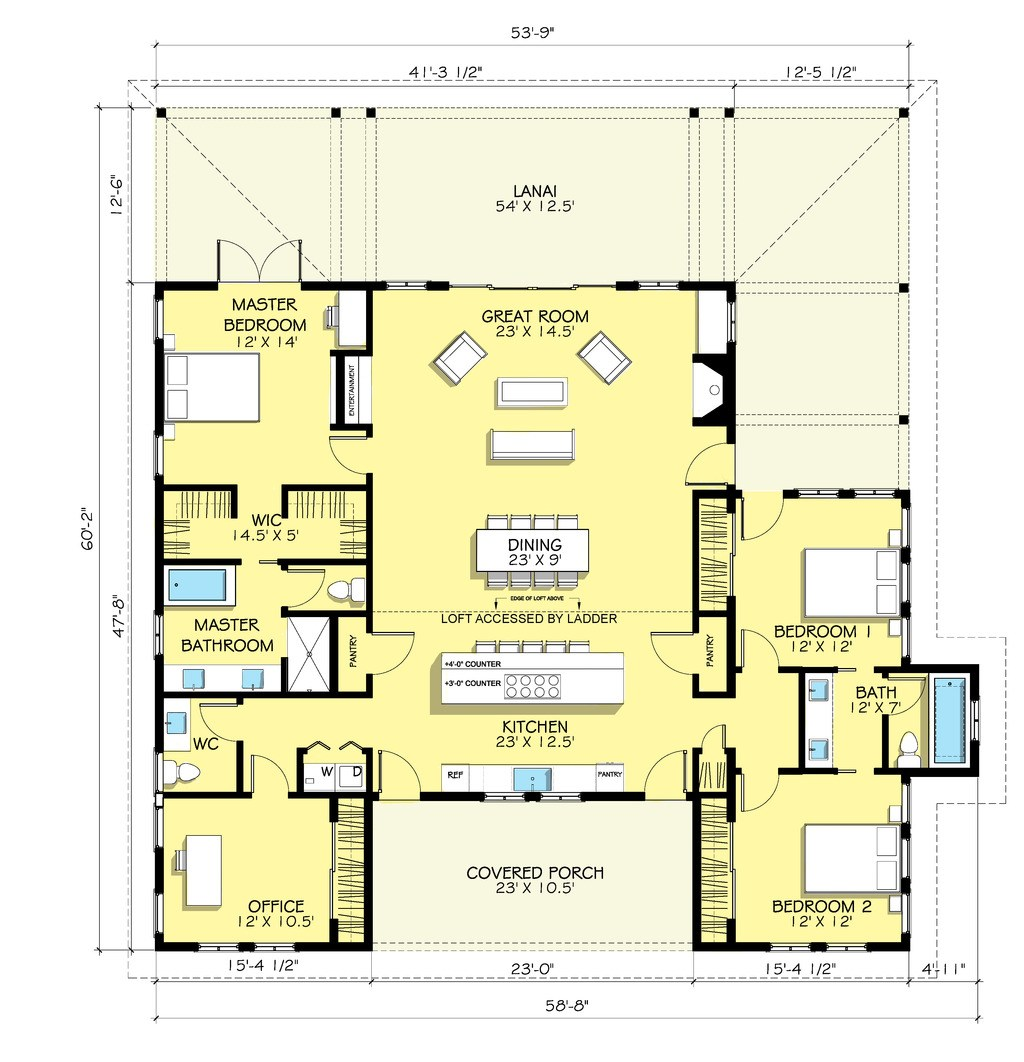 1024x1062 Birds Eye View House Plan Awesome House