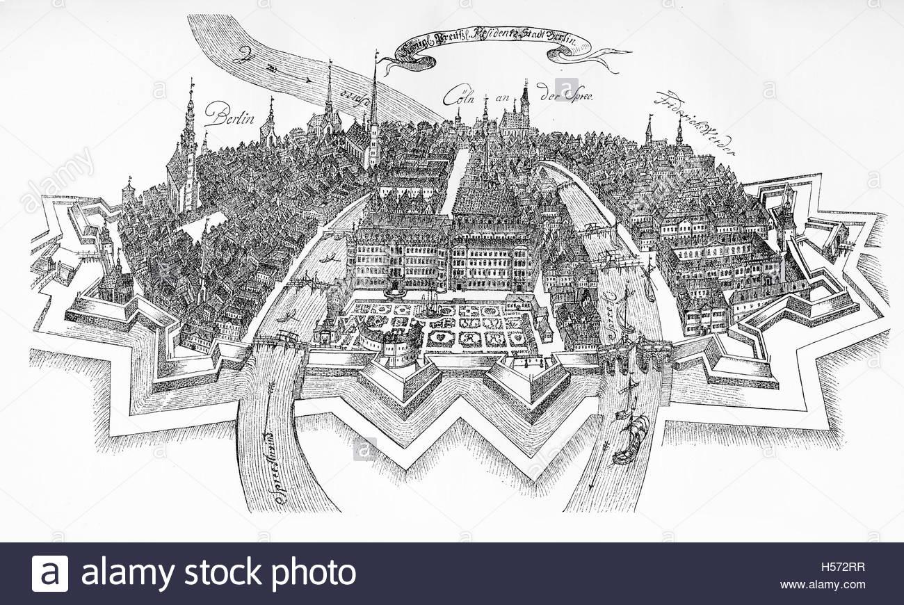 1300x870 Berlin, Germany, City Bird's Eye View On The Spree River In Xvii