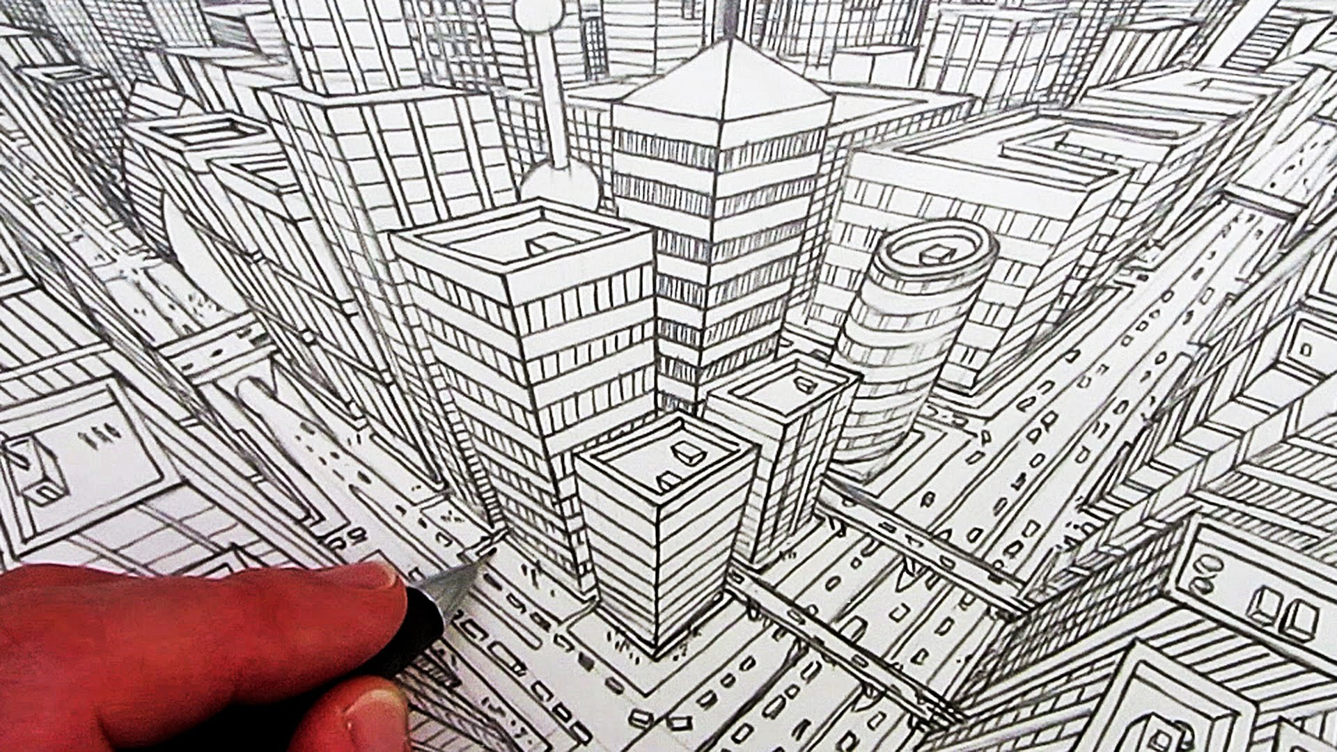 1920x1080 How To Draw A City In 3 Point Perspective