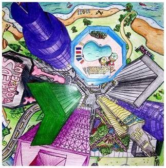 323x328 Image Result For One Point Perspective Top View Of Buildings Art