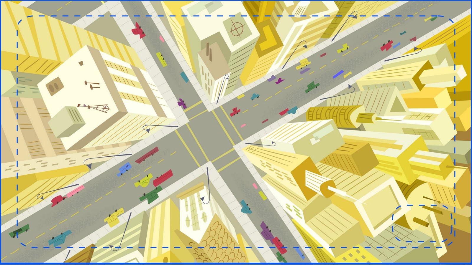1600x900 Cartoon Design Ideas Bird's Eye View Of Tall Buildings