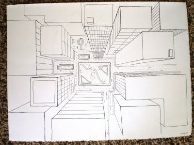 400x300 I Like The Idea Of A One Point Perspective Drawing, Birds Eye View