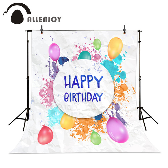 640x640 Allenjoy Watercolor Birthday Photographic Background Drawing