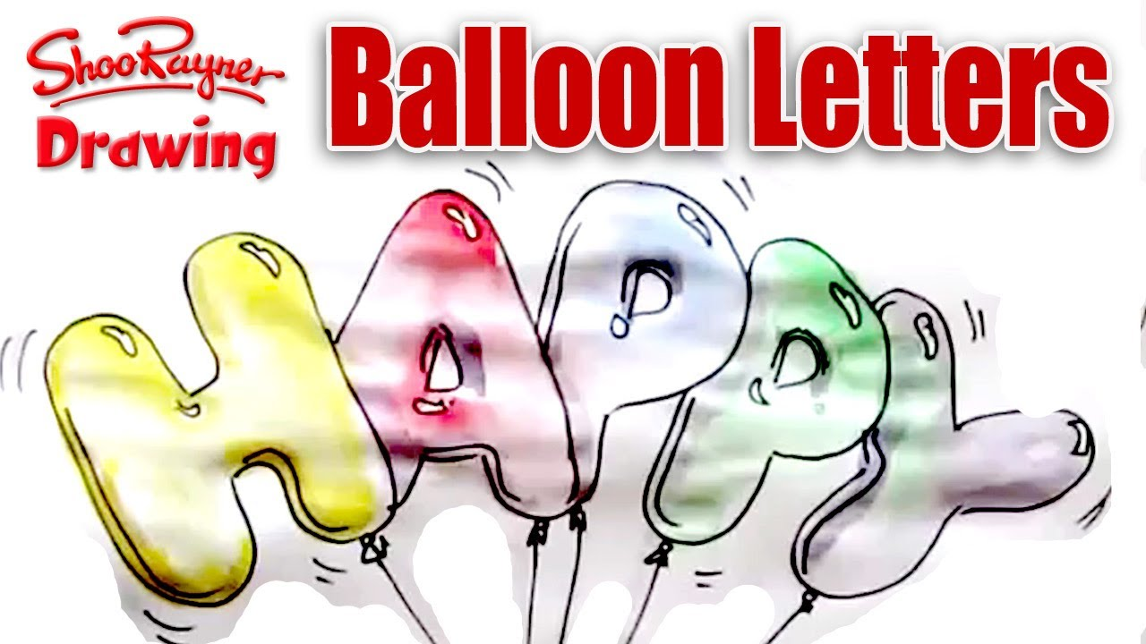 1280x720 How To Draw And Paint Balloon Letters