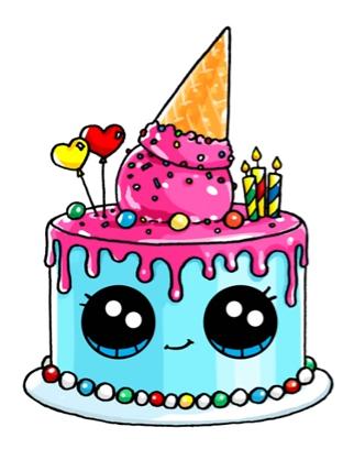 322x408 Birthday Cake Artdrawings Birthday Cakes