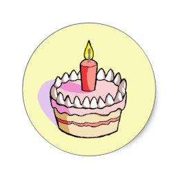 260x260 Birthday Cake Drawing Stickers Zazzle