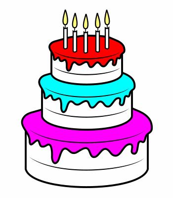 350x400 Drawing A Cartoon Cake