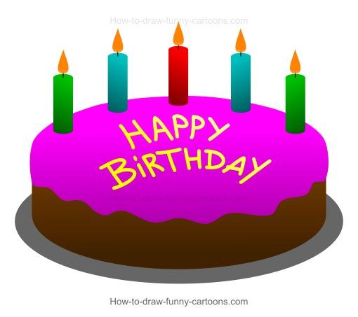 510x453 To Draw A Cartoon Birthday Cake