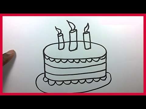 480x360 How To Draw A Birthday Cake For Kids
