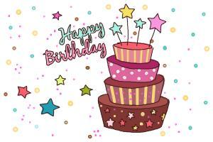 300x200 How To Draw A Birthday Cake