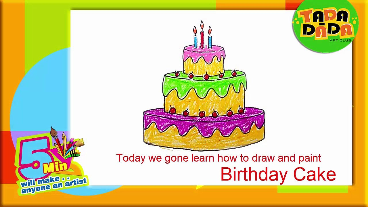 how to draw birthday candles step by step