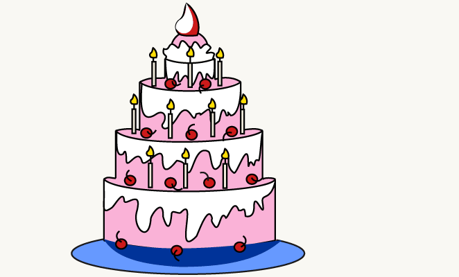 Birthday Cake Drawing Images at GetDrawingscom Free for personal