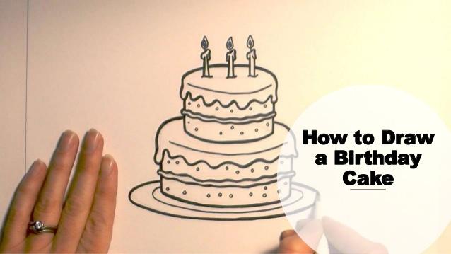 638x359 How To Draw A Birthday Cake