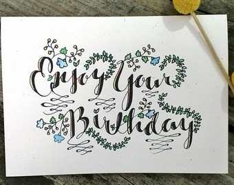340x270 Birthday Card Drawing Awesome Drawn Card Hand Drawn Pencil And
