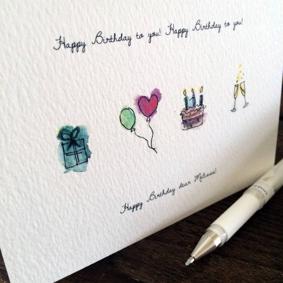 Birthday card drawing at getdrawings free for personal use 900x900 personalised hand drawn birthday card by homemade house bookmarktalkfo Images