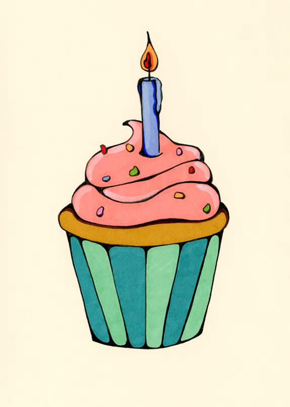 574x805 Birthday Cupcake