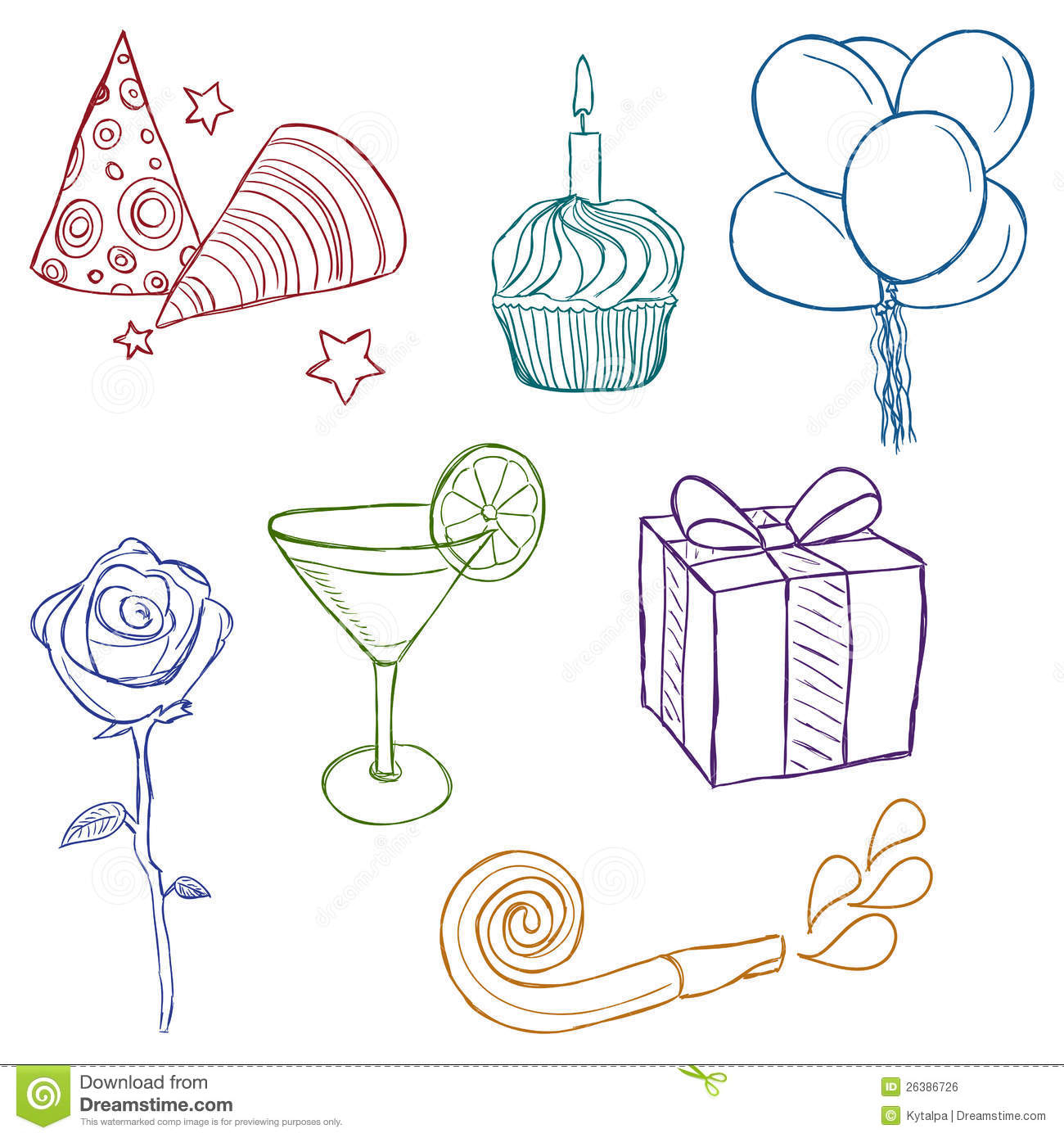 1300x1390 Drawing Pictures Of Birthday Party Primary Children Birthday
