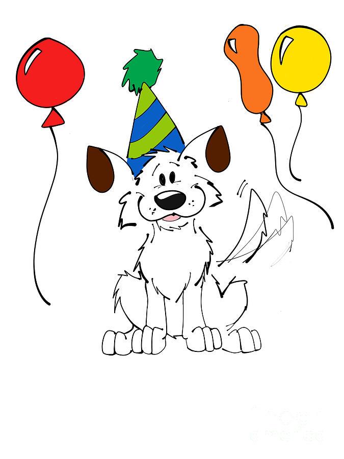 675x900 Happy Birthday Drawing By Rachel Barrett